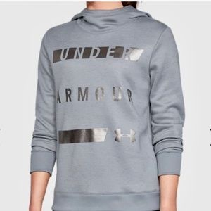 NWT Under Armour Gray and Silver Hoodie Size Small